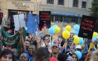 Hundreds of South Africans came together in Johannesburg to record a birthday song for former president Nelson Mandela, who turns 94 on 18 July 2012 (Photo: Ray Maota, GCIS)