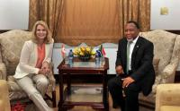 South African Deputy President Kgalema Motlanthe meets Danish Prime Minister Helle Thorning-Schmidt at the Union Buildings in Pretoria, 4 March 2013 (Photo: GCIS)