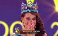 Miss South Africa Rolene Strauss reacts after being crowned Miss World 2014 at the Excel London ICC Auditorium on 14 December 2014. (Photo: Facebook.com/MsSouthAfrica)