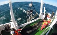 A submersible video camera is deployed to document what lives on the seabed of trawl lanes (Photo: South African Environmental Observation Network)