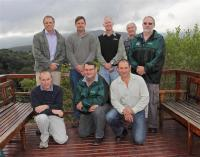 The proud team are back, from left: Prof Jos Louw, Barry Muller, Andrew McEwan, Willie Louw and Dr Jaap Steenkamp. Front: Dr Keith Little, Tiaan Pool and Richard M�ller.