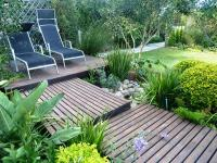 One of the gardens being prepared for display this weekend (25 and 26 October 2014) on Thesen Islands.