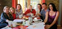 Front from left: Petricia Pieterse (Masithandane), Tania Human (Windpomp Diner), Tertia Rothman (Masithandane), Jacky Weaver (Masithandane), Kirsten Freiwald (KeeZee), Jan Schiebe (Wurst Express) and Belinda Hobson (Sedgefield Tourism)