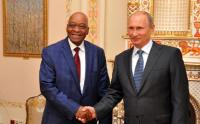 South African President Jacob Zuma meets Russian President Vladimir Putin at the Novo-Ogarevo presidential residence outside Moscow, 28 August 2014 (Photo: GCIS)