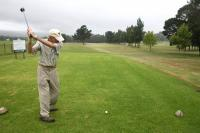 A player tees off at Glenwood Short Golf Course. (Photo: Alida de Beer)