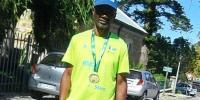 James Ngxale with his Two Oceans Marathon medal. (Photo: Adr� Osborne.)