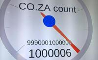 The .co.za domain for websites has surpassed the one million mark, following its creation in 1992. (Image: ZACR)