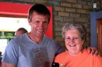 Greg Vogt CEO, Knysna Tourism with Councillor Louisa Hart.