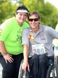 21stFebruary 2015 � this is the date that the Outeniqua Wheelchair Challenge (OCC) takes place in George this year. Here, race organiser Ansie Swart is with Mathys Roets who participated in the 10km event last year.