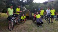 The 26-year-old cyclist William Taute (left) of Knysna was very to accommodate a team of six French cyclists, camping in his garden as they passed through Knysna on a world tour to raise awareness of Multiple Sclerosis (MS).