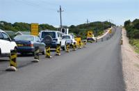 The rehabilitation and upgrade of the district roads near Glentana and Great Brak River is nearing completion.