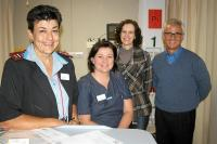 Some of the members of the stroke unit's team, from left: Sr Petro Fockens, Dr Isabel van der Merwe (head of the emergency centre), Dr Stella de Kock (neurologist) and Dr Ignatius Immink. (Photo: Alida de Beer)