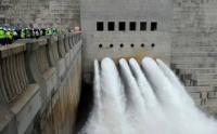 Water surges after the valves are opened at the official opening of De Hoop Dam near Steelpoort in Limpopo on 24 March 2014. (Image: DoC)