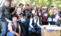 Members of the Garden Route Ulysses motor cycle club at a previous charity drive.( Photo: Supplied)