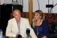 Daniël Janse van Rensburg and his wife, Melanie during the press conference after his arrival ( Photo: Fran Kirsten).