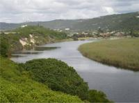 Serpentine River forms part of Island Lake.