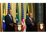 South African President Jacob Zuma and US President Barack Obama during a press briefing at the Union Buildings, Pretoria, 29 June 2013 (Photo: GCIS)