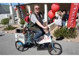 Man of the moment and always a good sport, Zirk Jansen, Knysna-Plett Herald advertising representative, who organised the successful Spring celebration.