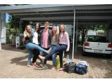 Packing for Plett are Yorkies Jenna Cronje, Morgan Minnaar from Westerford High School in Cape Town, Cuan Farrenkothen, Jenna Seegmuller and Taylor Witshire. (Photo: Myron Rabinowitz)