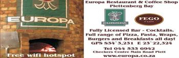 Europa Restaurant & Coffee Shop: Europa Restaurant & Coffee Shop Plettenberg Bay