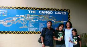 Family at Cango Caves South Africa