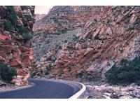 The spectacular geological rock formations at Meiringspoort, De Rust Garden Route Western Cape South Africa