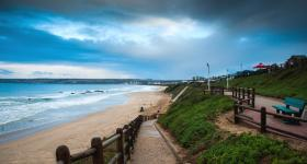 Sunkissed beaches of Hartenbos Garden Route Western Cape South Africa