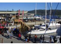 Visit the Knysna Waterfront for shopping and dining