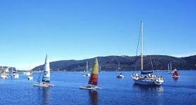 Sailing and boating on the Knysna Lagoon