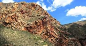Rock formations on the Swartberg Pass