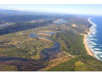 Aerial view of Wilderness and Sedgefield Garden Route South Africa