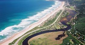 Aerial View of Wilderness Garden Route