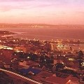Night falls on the harbour of Mossel Bay, in the heart of the Garden Route of South Africa