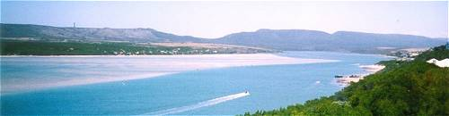 Witsand is famous for its 4km of white beach
