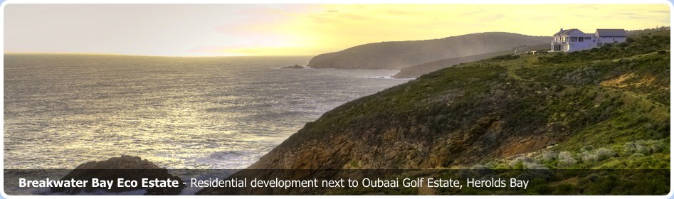 Breakwater Bay Eco Estate. Residential development next to Oubaai Golf Estate Herolds Bay Garden Route